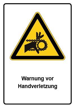 Kombi Aufkleber Warnung vor Handverletzung
