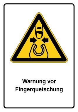 Kombi Aufkleber Warnung vor Fingerquetschung