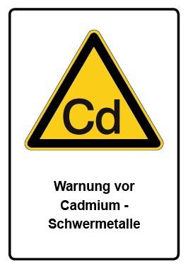 Kombi Aufkleber Warnung vor Cadmium - Schwermetalle