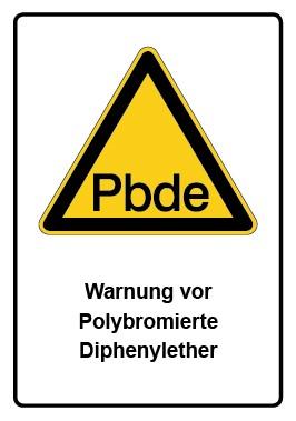 Kombi Aufkleber Warnung vor Polybromierte Diphenylether