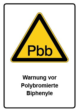 Kombi Aufkleber Warnung vor Polybromierte Biphenyle