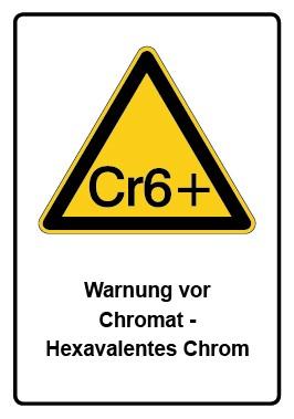 Kombi Aufkleber Warnung vor Chromat - Hexavalentes Chrom