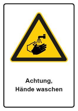 Kombi Aufkleber Hinweiszeichen Achtung, Hände waschen
