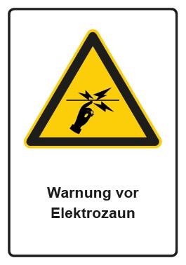 Kombi Aufkleber Warnung vor Elektrozaun