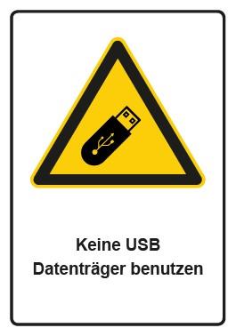 Kombi Aufkleber Hinweiszeichen Keine USB Datenträger benutzen