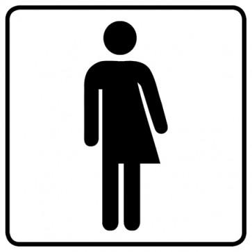 WC Toiletten Aufkleber   Transgender · weiß