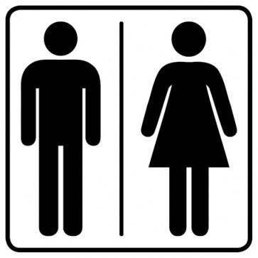 WC Toiletten Aufkleber   Herren · Damen · weiß