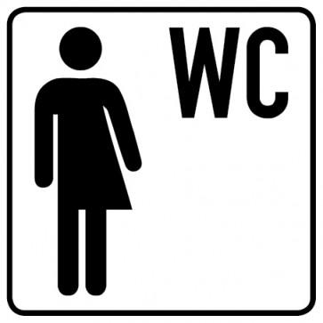 WC Toiletten Aufkleber | Transgender WC · weiß