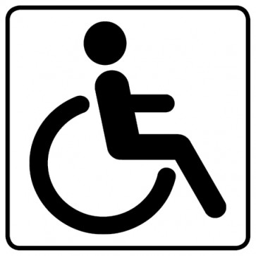 WC Toiletten Aufkleber | behindertengerecht · Rollstuhl  · weiß