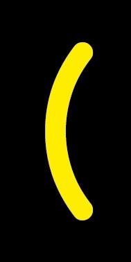 Aufkleber Sonderzeichen Klammer auf | gelb · schwarz