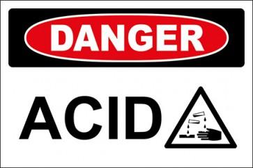 Magnetschild Acid With Picture · Danger · OSHA Arbeitsschutz