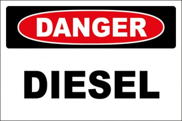 Aufkleber Diesel · Danger · OSHA Arbeitsschutz