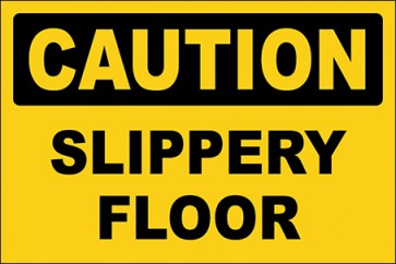 Aufkleber Slippery Floor · Caution · OSHA Arbeitsschutz