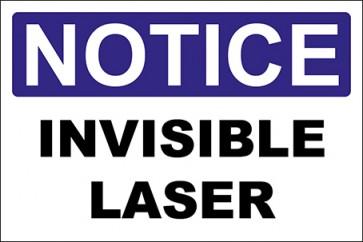 Aufkleber Invisible Laser · Notice · OSHA Arbeitsschutz