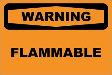 Aufkleber Flammable · Warning · OSHA Arbeitsschutz