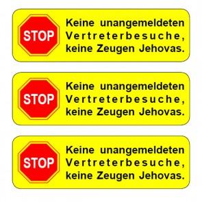 Briefkastenaufkleber gelb Typ 12 · runde Ecken