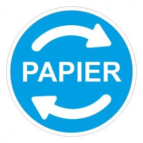 Aufkleber Recycling Wertstoff Mülltrennung Papier