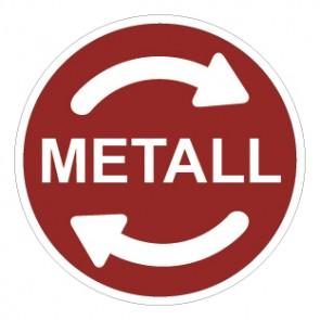 Schild Recycling Wertstoff Mülltrennung Metall