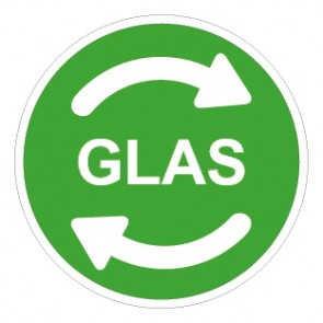 Schild Recycling Wertstoff Mülltrennung Glas
