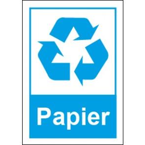 Magnetschild Recycling Wertstoff Mülltrennung Papier