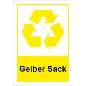 Magnetschild Recycling Wertstoff Mülltrennung Gelber Sack