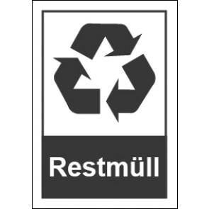 Magnetschild Recycling Wertstoff Mülltrennung Restmüll