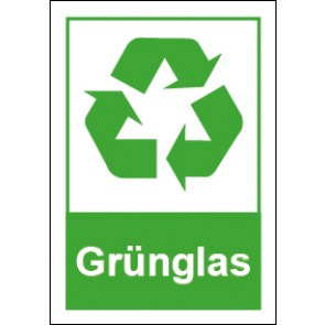 Magnetschild Recycling Wertstoff Mülltrennung Grünglas