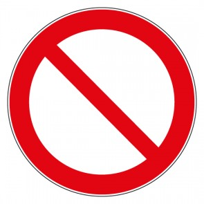 Aufkleber Allgemeines Verbotszeichen