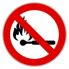 Aufkleber Feuer Rauchen und offenes Licht verboten