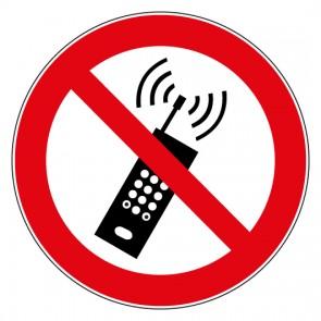 Aufkleber Verbotszeichen Mobilfunk Geräte verboten