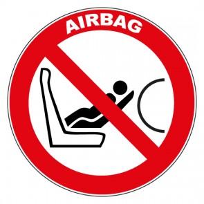 Aufkleber Verbotszeichen Achtung Airbag Vorsicht