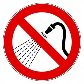 Aufkleber Verbotszeichen Mit Wasser spritzen verboten
