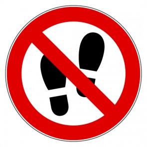 Aufkleber Verbotszeichen Betreten der Fläche verboten