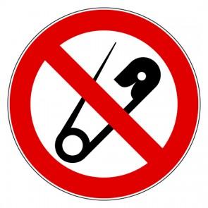 Aufkleber Verbotszeichen Keine Nadeln - Spitze Gegenstände