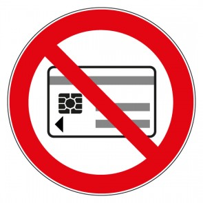 Aufkleber Verbotszeichen Mitführen von magnetischen oder elektronischen Datenträgern verboten