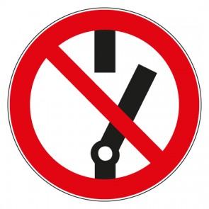 Aufkleber Verbotszeichen Schalten verboten