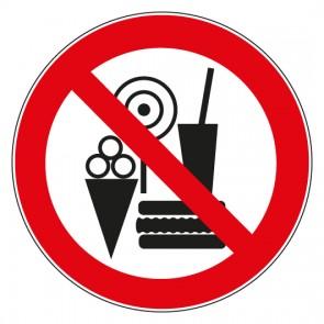 Aufkleber Verbotszeichen Snacks verboten