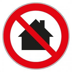 Aufkleber Verbotszeichen Nicht in Wohngebieten verwenden