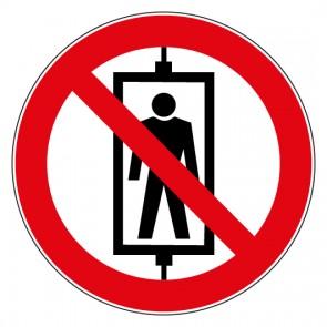 Aufkleber Verbotszeichen Personenbeförderung verboten