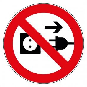 Aufkleber Stecker ziehen verboten
