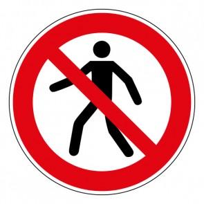Schild Verbotszeichen Für Fußgänger verboten · ISO 7010 P004