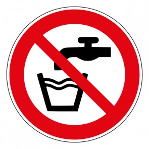 Schild Verbotszeichen Kein Trinkwasser · ISO 7010 P005