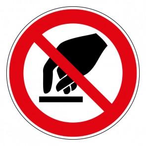 Schild Verbotszeichen Berühren verboten · ISO 7010 P010