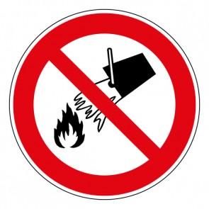 Schild Verbotszeichen Mit Wasser löschen verboten · ISO 7010 P011