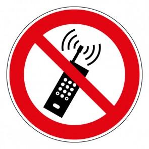 Schild Verbotszeichen Eingeschaltete Mobiltelefone verboten · ISO 7010 P013