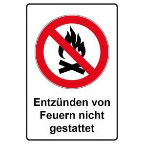 Kombi Aufkleber Entzünden von Feuern nicht gestattet