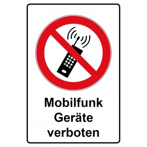 Kombi Aufkleber Mobilfunk Geräte verboten