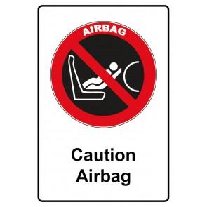 Kombi Aufkleber Caution Airbag