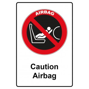 Kombi Aufkleber Caution Airbag