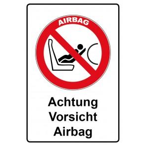 Kombi Aufkleber Achtung Airbag Vorsicht